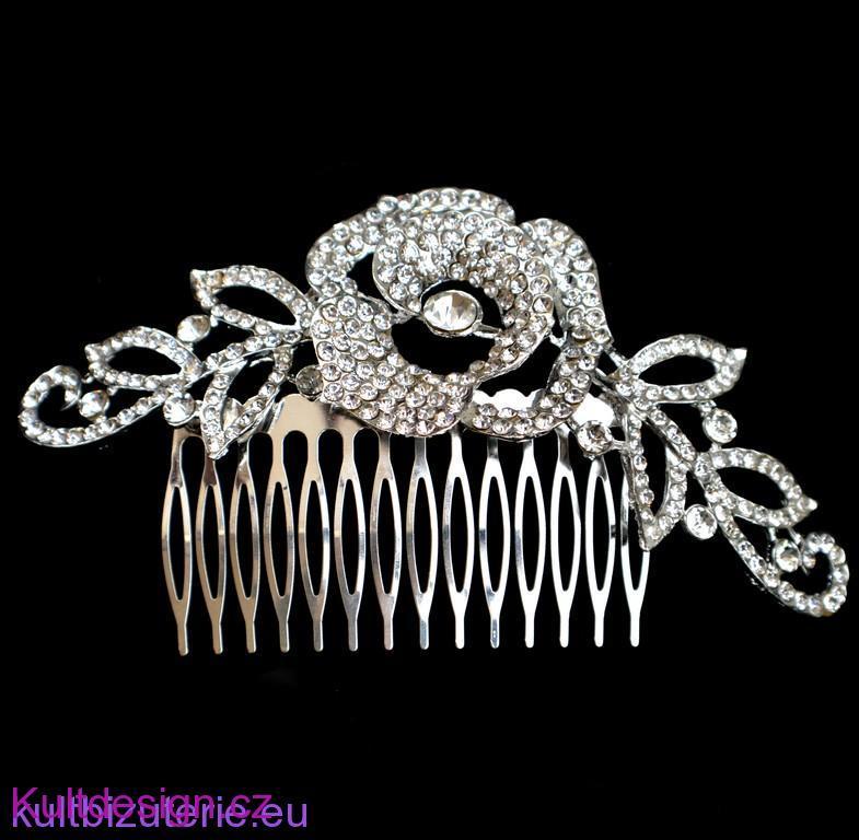 Svatební hřeben do vlasů bizuterie eshop 8c8ab599c9