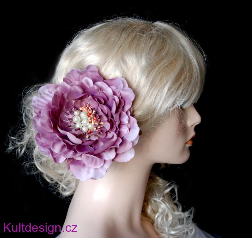 8045d63dfe7 Květina do vlasů Shabby chic peony