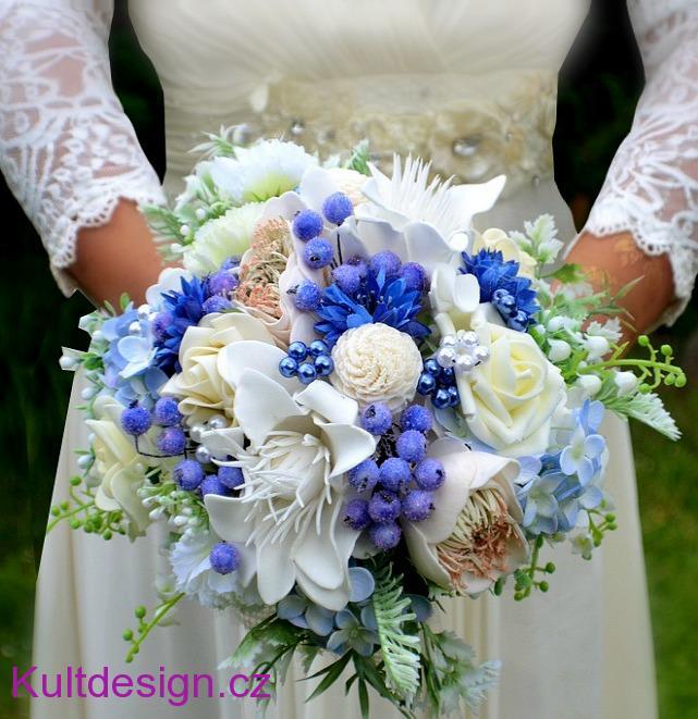 Svatebni Kytice Modra