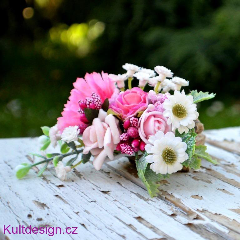 13fb71c1fad Květinová spona do vlasů růžová