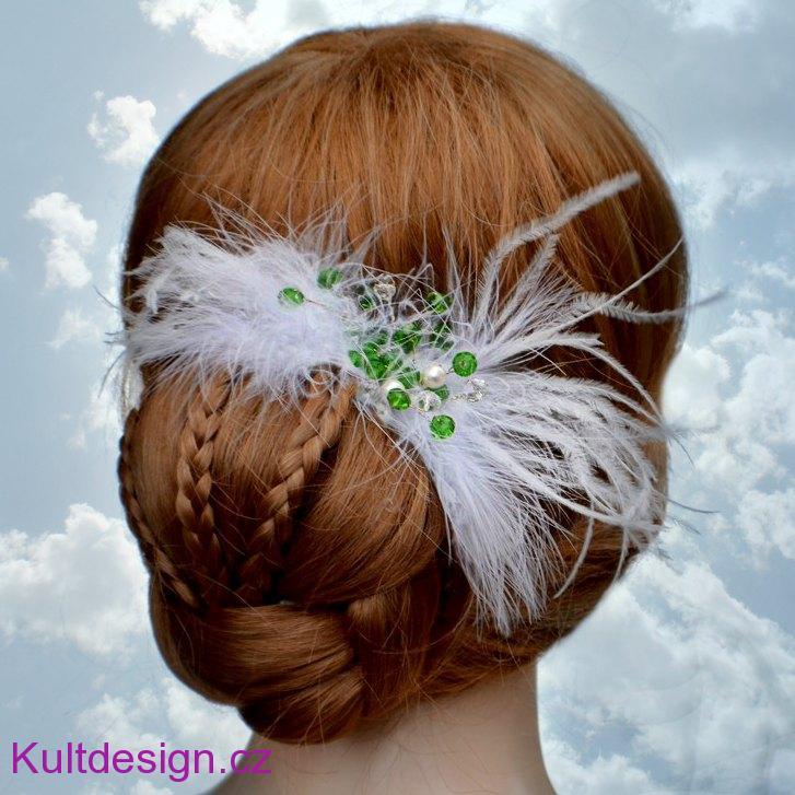 1f1a1e26958 Svatební spona do vlasů peříčka