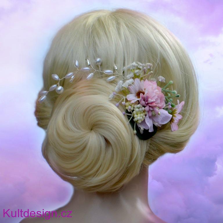 459d9603a2f Svatební spona do vlasů květinová