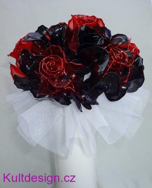 Svatební kytice z umělých květin Latex růže 6b78f4254b